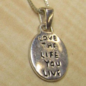 925 sterling silver pendant necklace love life
